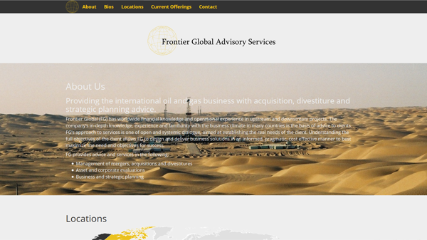 Frontier Global Advisory Services